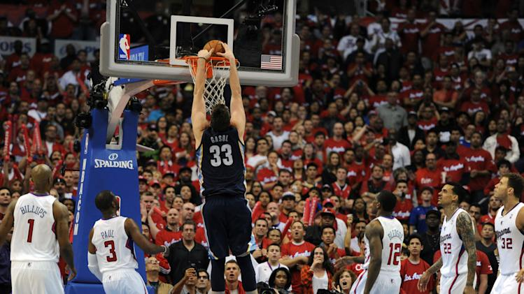 NBA: Playoffs-Memphis Grizzlies at Los Angeles Clippers