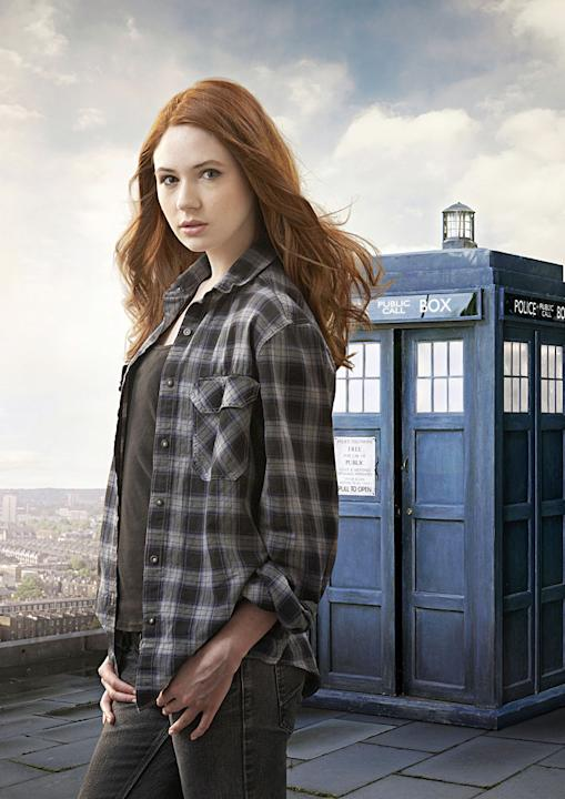 "Karen Gillan stars in ""Doctor Who."""