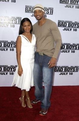 Jada Pinkett Smith and Will Smith at the LA premiere of Columbia's Bad Boys II