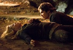 Claire Holt and Ian Somerhalder | Photo Credits: Bob Mahoney/The CW