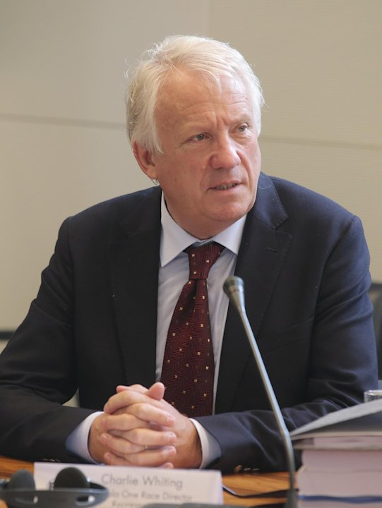 FIA Formula One Race Director, Charlie Whiting, prior to the hearing at the FIA headquarters in Paris, Thursday, June 20, 2013. The hearing to determine whether Mercedes and Pirelli broke Formula One