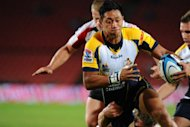 Fringe Wallabies&#39; fly-half Christian Lealiifano, pictured here on April 27, will miss six months of rugby after suffering a serious ankle injury in the ACT Brumbies&#39; Super 15 win over the NSW Waratahs last weekend, the club said Monday