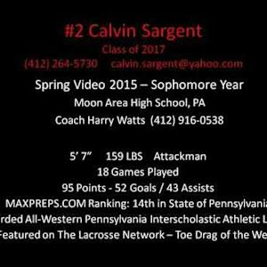 Calvin Sargent Class of 2017 Spring 2015