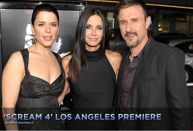 Scream 4 Los Angeles premiere titlecard