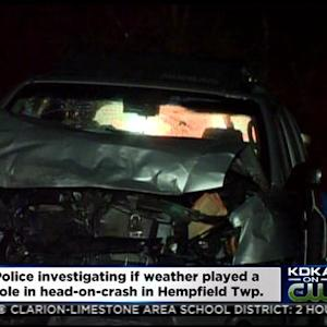 Police Investigating Head-On Crash In Hempfield Twp.