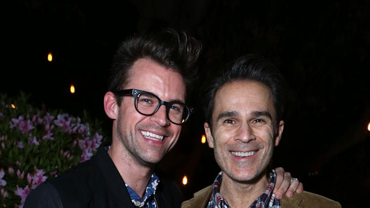 "Brad Goeski and Gary Janetti  at Brad Goeski dinner at Levi's Haus for ""It's a Brad Brad World"", on Tuesday, March, 19, 2013 in Los Angeles. (Photo by Alexandra Wyman /Invision for Levi's/AP Images)"
