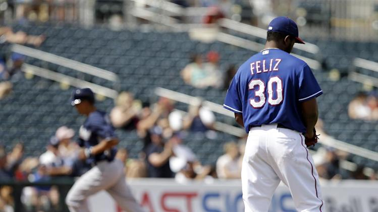 Texas sends former All-Star closer Feliz to minors