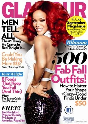 Rihanna on the September 2011 cover Glamour Magazine -- Glamour