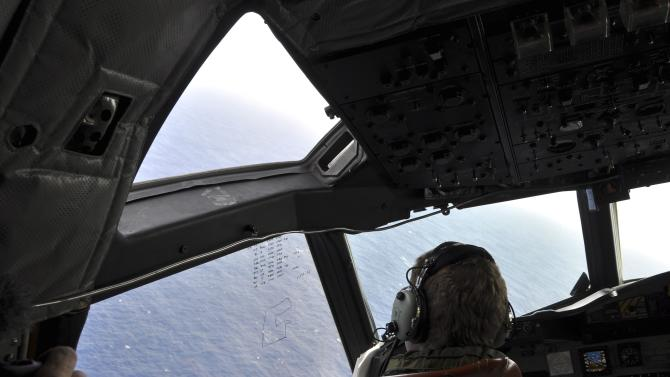 a RNZAF AP-3C Orion maritime patrol aircraft as it continues searching