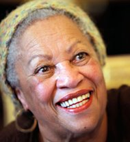 FILE - In this is Nov. 3, 2010 file photo of U.S novelist Toni Morrison smiles in Paris. President Barack Obama and first lady Michelle Obama will honor a diverse cross-section of political and cultural icons — including former Secretary of State Madeleine Albright, astronaut John Glenn, basketball coach Pat Summitt and rock legend Bob Dylan — with the Medal of Freedom at a White House ceremony Tuesday. The Medal of Freedom is the nation's highest civilian honor. It's presented to individuals who have made especially meritorious contributions to the national interests of the United States, to world peace or to other significant endeavors. (AP Photo/Thibault Camus, File)