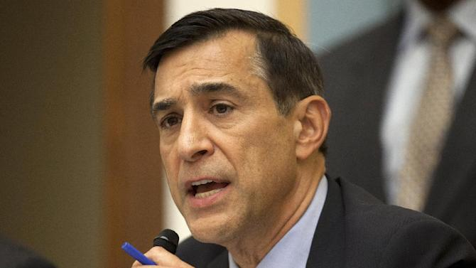 FILE - In this May 15, 2013 file photo, House Oversight and Government Reform Committee Chairman Rep. Darrell Issa, R-Calif. speaks on Capitol Hill in Washington. Issa has issued subpoenas for State Department documents related to the widely debunked talking points about the cause of the deadly attack on U.S. diplomatic mission in Benghazi, Libya, last year. (AP Photo/Carolyn Kaster, File)
