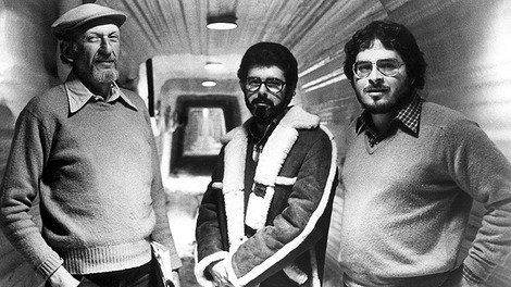 Lawrence Kasdan (right) with 'Empire' director Irvin Kershner and George Lucas