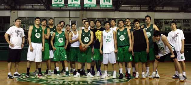 De La Salle Green Archers Men's Basketball Team (Photo by Marlo/Cueto