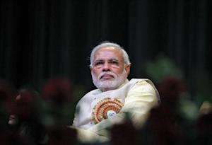 Modi, prime ministerial candidate for India's main opposition BJP and Gujarat's chief minister, attends the CAIT national convention in New Delhi