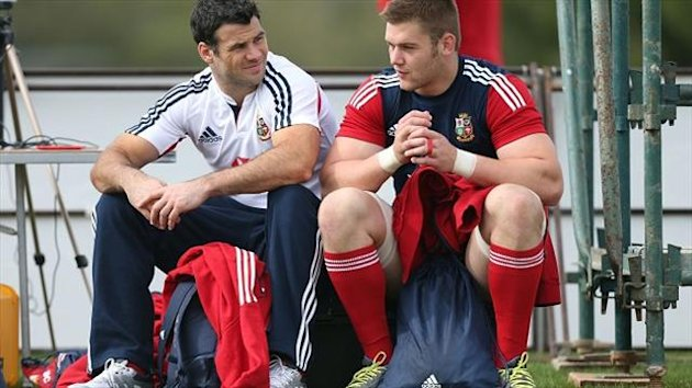 Dan Lydiate, right, says it is a 'massive honour' to lead out the Lions