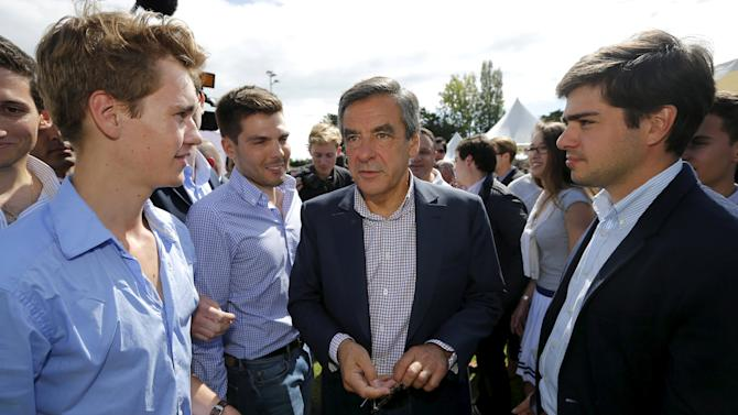 Former French Prime Minister Fillon attends the summer university camp held by Loire-Atlantique Republicans Party in La Baule