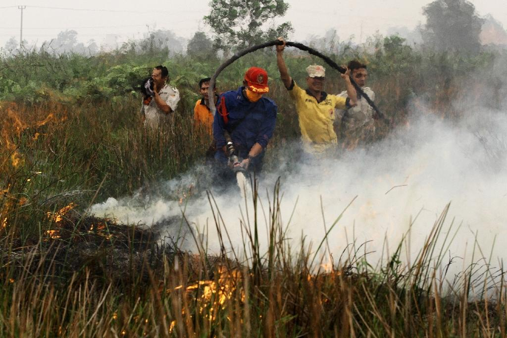 International help arrives to tackle Indonesia fires