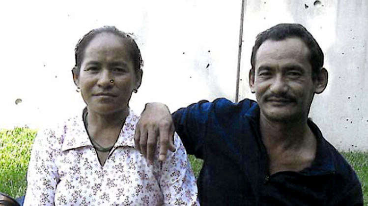 This undated photo released by the Philadelphia District Attorney's Office shows Karnamaya Mongar, left, and her husband, Mr. Mongar, no first name given. Karnamaya Mongar survived 20 years in a refugee camp after fleeing war-torn Bhutan, but died months after arriving in the U.S. in 2009 and seeking an abortion. Mongar, 41, is the subject of one of eight murder counts in the ongoing Philadelphia trial of Dr. Kermit Gosnell. Gosnell, an abortion provider, is also charged with killing seven babies allegedly born alive. (AP Photo/Philadelphia District Attorney)