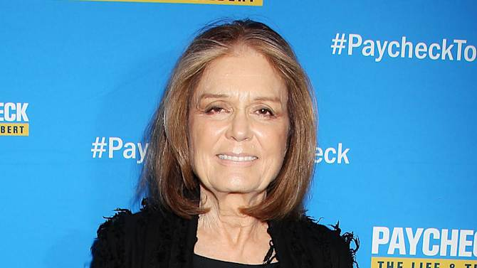 "FILE - This March 13, 2014 file photo released by Starpix shows Gloria Steinem at the premiere of the documentary ""Paycheck to Paycheck: The Life & Times of Katrina Gilbert,"" in New York. Steinem, who turned 80 last week, will be receiving the Lifetime Leadership Award at the annual DVF awards Friday evening in a ceremony at the United Nations. (AP Photo/Starpix, Dave Allocca, File)"