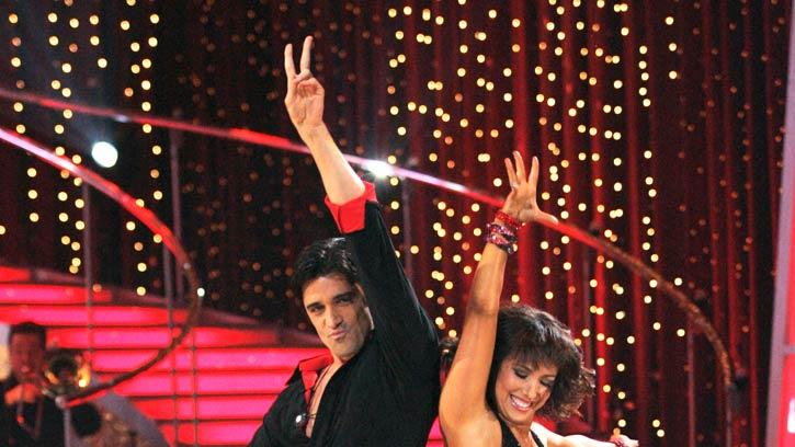 "Gilles Marini and Cheryl Burke perform the Cha-cha to ""Addicted to Love"" by Robert Palmer on ""Dancing with the Stars."""