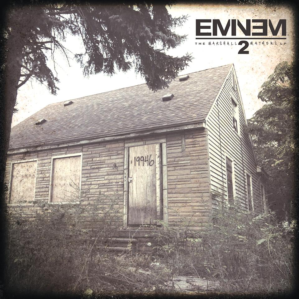 "This CD cover image released by Aftermath shows ""The Marshall Mathers LP2,"" by Eminem. (AP Photo/Aftermath)"