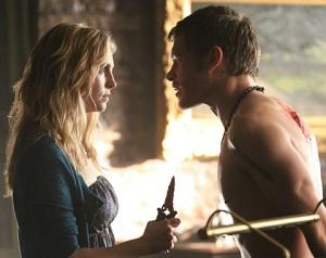 Exclusive Vampire Diaries First Look: Klaus and Caroline Have a Heated Confrontation
