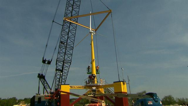 Nation's first floating wind turbine launched