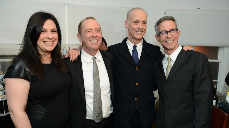 "Garance Franke-Dore, Mark Harrington, John Waters and Peter Staley attend LoveGold/EJAF Celebrate ""How to Survive a Plague"" at Chateau Marmont on February 22, 2013 in Los Angeles. (Photo by Jordan Strauss/Invision for LoveGold/AP Images)"