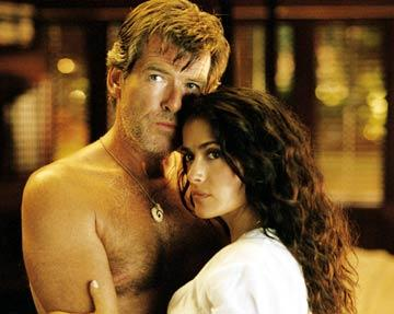 Pierce Brosnan and Salma Hayek in New Line Cinema's After the Sunset