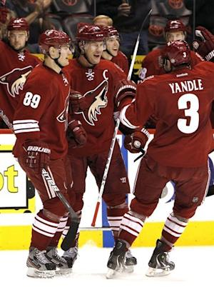 Doan gets 1st career hat trick on last-second goal