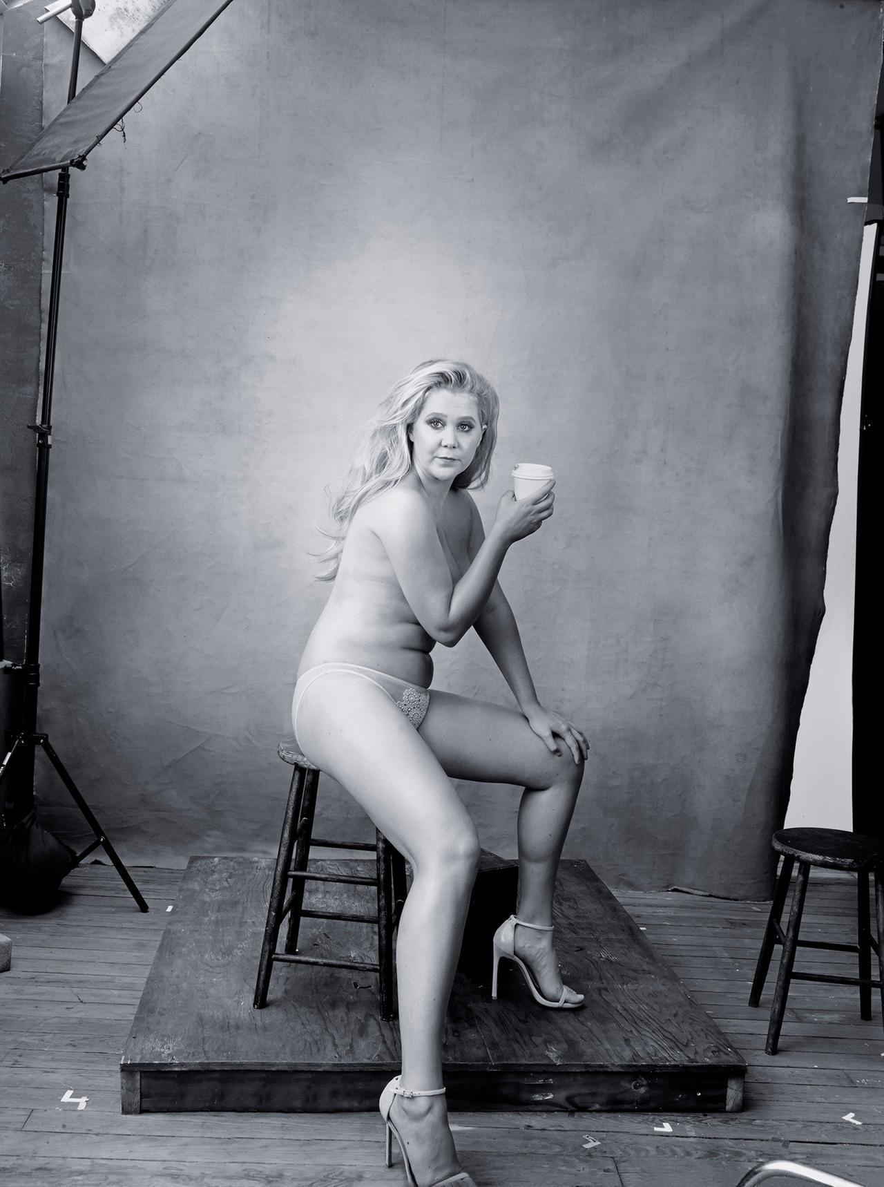 Amy Schumer Strips Down For 2016 Pirelli Calendar