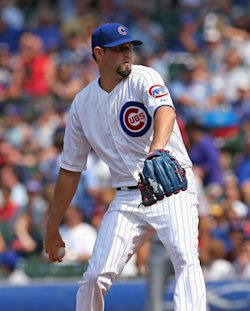 Jason Hammel went 7-5 with a 2.98 ERA for the Cubs this season. (Getty Images)