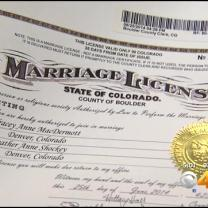 Gay Couples In Denver Line Up To Get Marriage Licenses