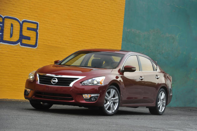 This undated photo provided by Nissan shows the 2013 Nissan Altima Sedan. This fifth-generation Altima, with a federal government's rating of 27 miles per gallon in city driving and 38 mpg on the high