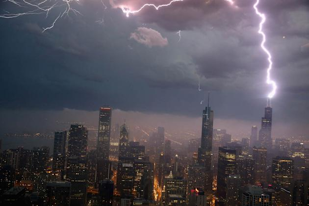 Severe Storms Pass Through Chicago