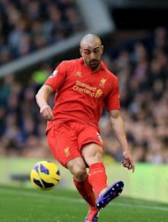 Jose Enrique, pictured, is in the first-team picture following an injury to Glen Johnson