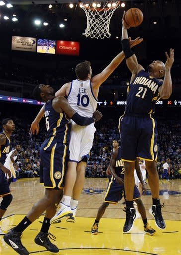 Hill's three-point play lifts Pacers over Warriors