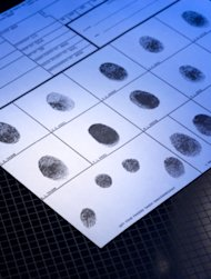 Sheet of fingerprints