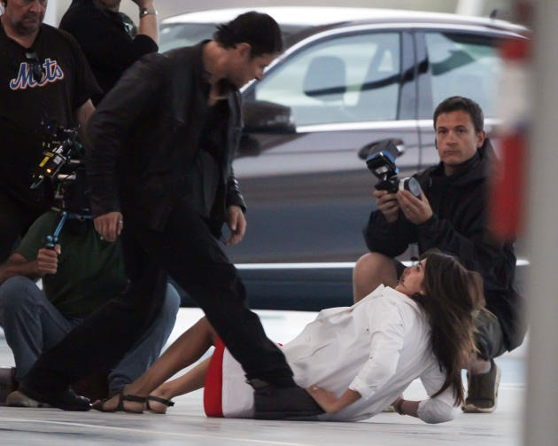 Penelope Cruz knock out sul set di The Counselor