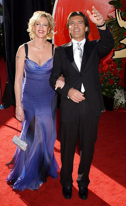 Melanie Griffith and Antonio Banderas at The 56th Annual Primetime Emmy Awards.