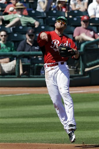 Reds hit 4 home runs in 7-7 tie with Indians