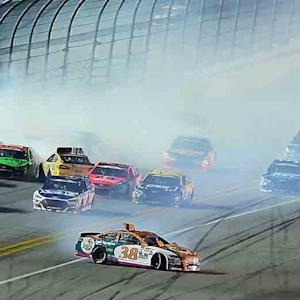 Gilliland initiates multi-car crash early
