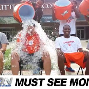Clemson Men's Basketball Joins the ALS Ice Bucket Challenge | Must See Moment