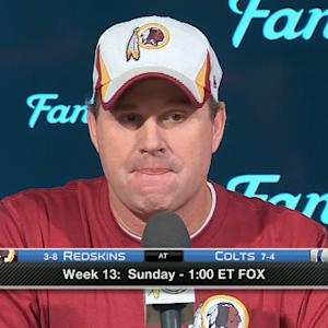 Washington Redskins head coach Jay Gruden on quarterback Robert Griffin III news breaking early