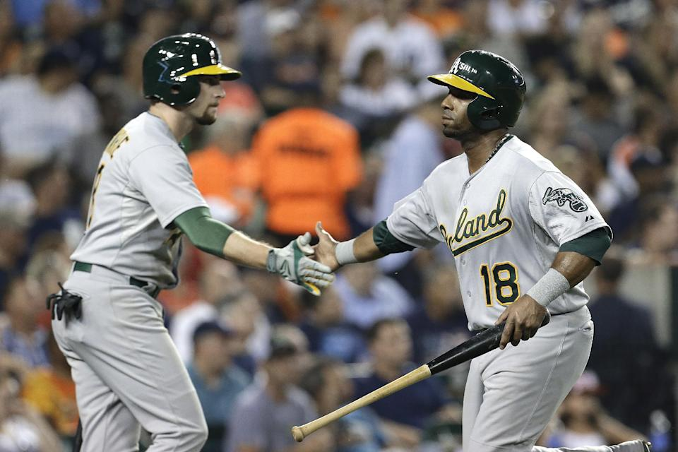 Athletics hold on for 8-6 win over Tigers