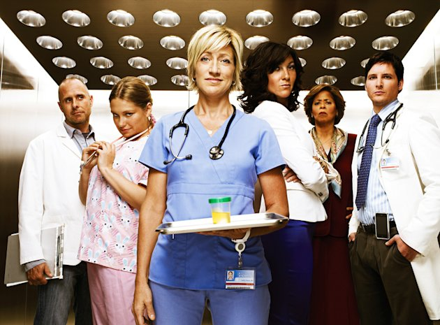 "The cast of ""Nurse Jackie."""