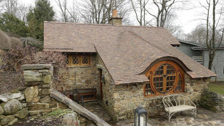 "Shown is an exterior view of the ""Hobbit House"" Tuesday, Dec. 11, 2012, in Chester County, near Philadelphia. Architect Peter Archer has designed a ""Hobbit House"" containing a world-class collection of J.R.R. Tolkien manuscripts and memorabilia.(AP Photo/Matt Rourke)"
