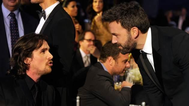 Christian Bale and Ben Affleck are seen during the 18th Annual Critics' Choice Movie Awards on January 10, 2013 in Santa Monica, Calif. -- Getty Images