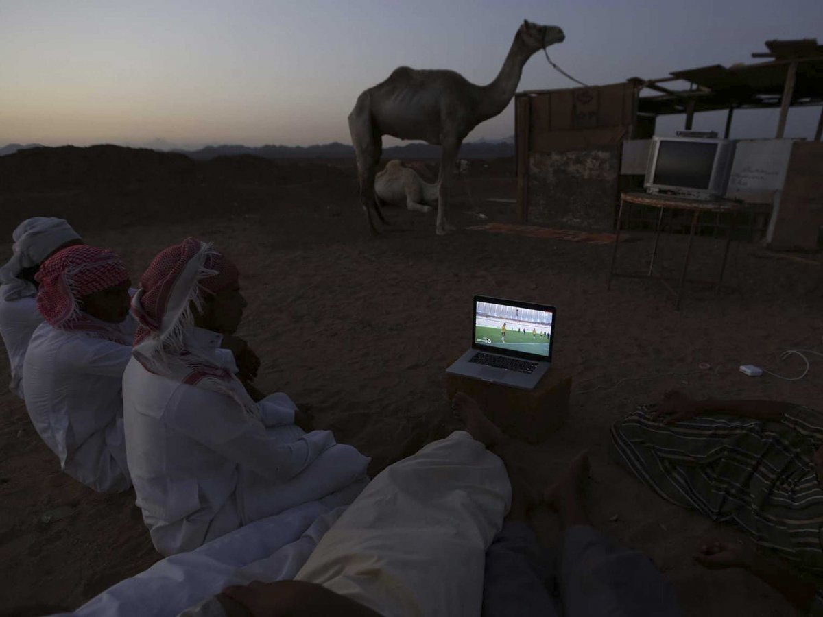 World Cup Watching In a Desert