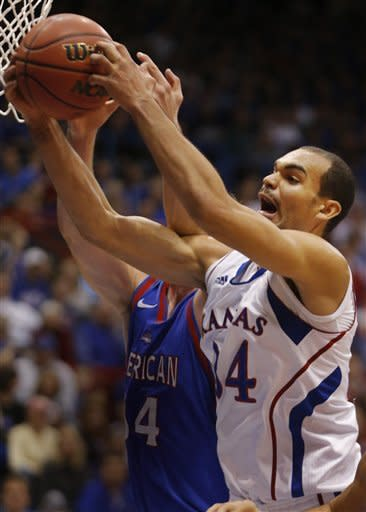 Releford leads No. 6 Kansas past American, 89-57